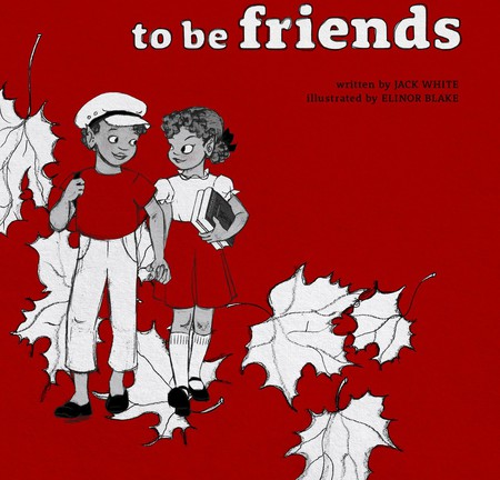"""Detail of the cover of """"We're Going to Be Friends"""" 