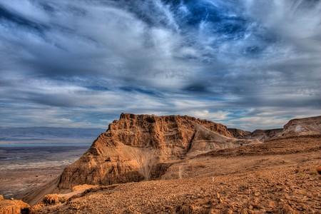 Masada from the site of the Roman siege camp | © Avinoam Michaeli/PikiWiki
