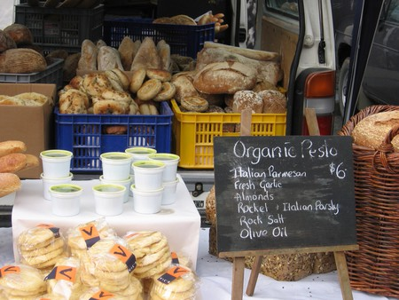 A Stall at the Lyttelton Farmers' Market
