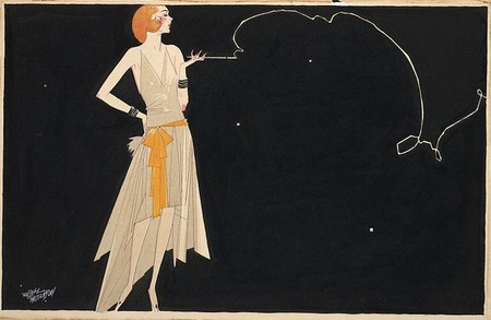 """""""Where there's smoke there's fire"""" by American artist Russell Patterson (1930s) 