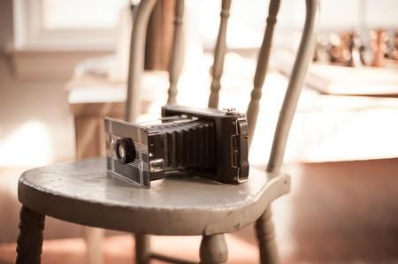 camera chair vintage