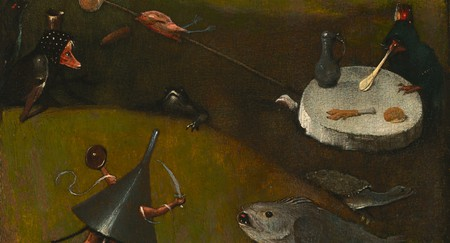 Detail of Hieronymus Bosch, <em>The Temptation of St. Anthony</em>, ca. 1500-1510 | Courtesy The Nelson-Atkins Museum of Art
