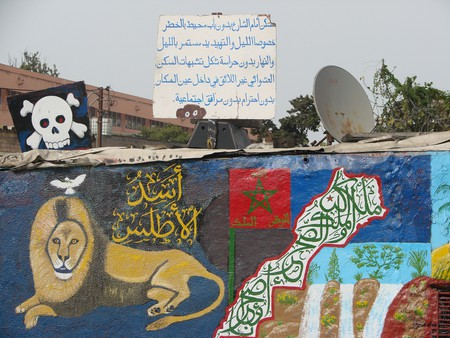 Eye-catching artwork on a wall in Casablanca   © otoniel costa neto / Flickr