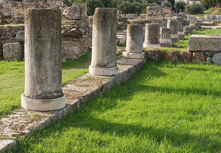 Columns of the Pompeion in the Kerameikos, Athens, Greece | ©Jebulon/WikiCommons