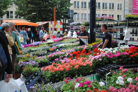 Flower market on Ghent's Kouter square | © bookfinch / Flickr
