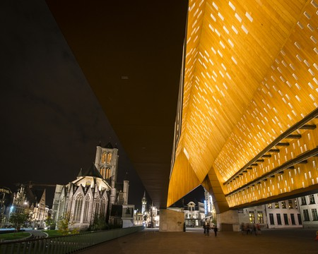 Ghent's St. Bavo's Cathedral and City Pavilion   Courtesy of Visit Ghent