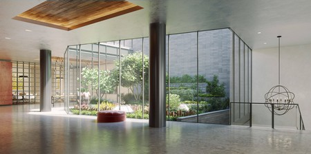Lobby Atrium at 525 W 52   © Moso Studio