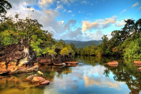 Beautiful view of the tropical jungle river at the beach of Masoala National Park in Madagascar | © Dennis van de Water/Shutterstock