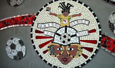 Cape Town's MyCiTi bus stations are decorated with works by local artists