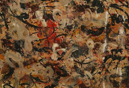 Detail of Jackson Pollock painting | Courtesy of J. Levine Auction & Appraisals.