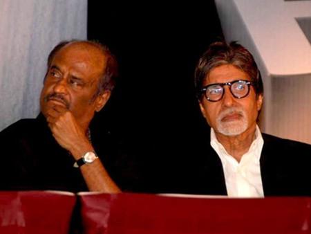 Rajinikanth and Amitabh Bachchan © Bollywood Hungama / Wikimedia Commons