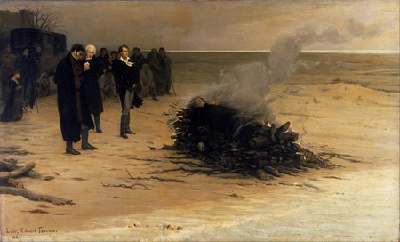 'The Funeral of Percy Shelley' by Louis Edouard Fournier (1889) | ©WikiCommons