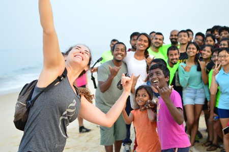 Claire MacFarlane and supporters | © Manan Dhuri