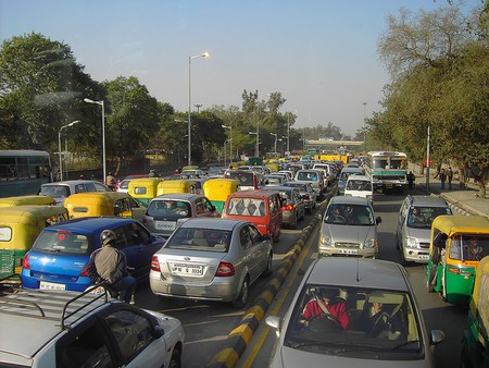 Traffic in New Delhi | Courtesy denisbin/Flickr