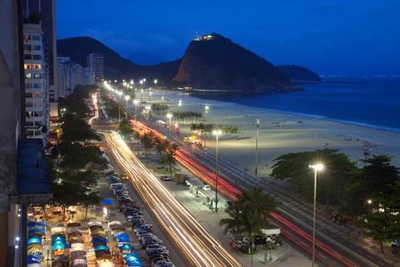 Copacabana Beach at night   © Marcin Wichary/Flickr