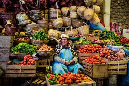 Market seller in La Paz