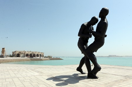 Coup de Tete by Algerian artist Adel Abdessemed │© PRODoha Stadium Plus Qatar / Flickr