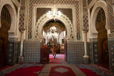Ornate zellige inside a mosque in Fez   © Anna & Michal / Flickr