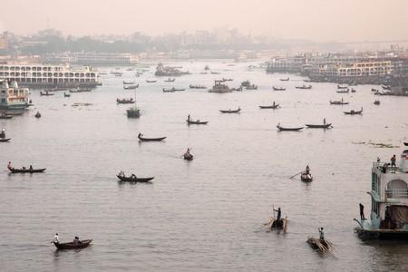 The Sadarghat Launch Terminal is the main port of Bangladesh's capital city Dhaka