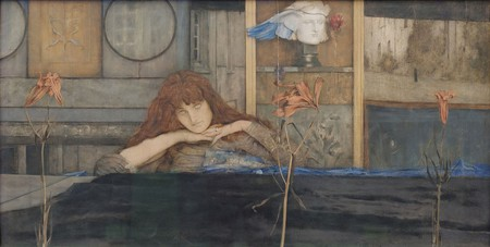 Fernand Khnopff, 'I lock my door upon myself' (1891) | Via Yelkrokoyade/WikiCommons