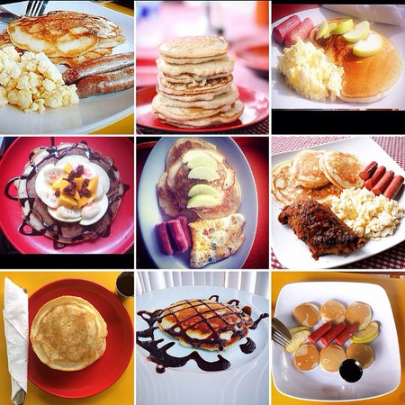 A wide selections of pancakes at the Pancake Hub