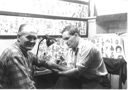 Jack tattooing Peter Severin
