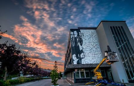 Installing a Nuart mural   Photo © Brian Tallman