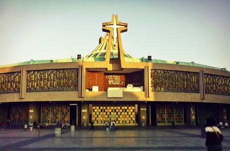 The Basilica de Guadalupe catches some evening light