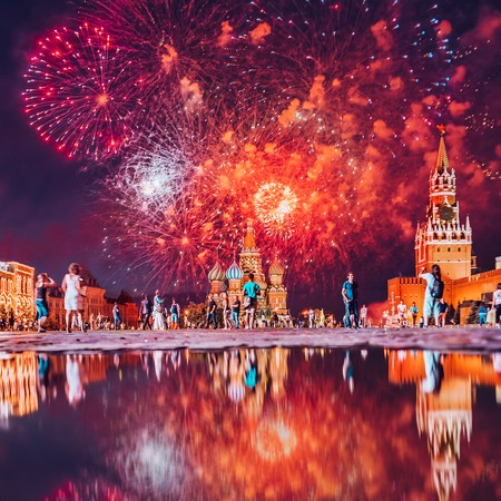 Fireworks in Moscow I © Kristina Makeeva
