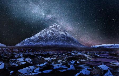 Milky Way Over Buachaille Etive Mhor