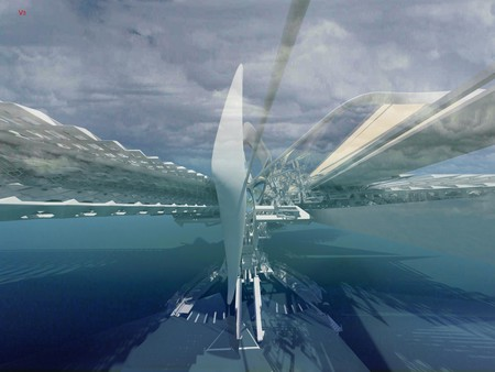Revolving Solar Sail bridge | © Margot Krasojević Architects