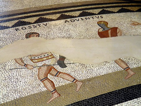 Details of the so-called Gladiator mosaic at the Romano-Germanic Museum | © Carole Raddato/Flickr