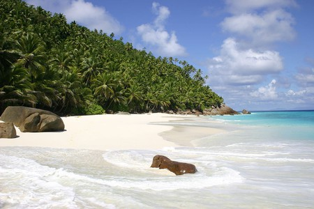 """<a href=""""https://commons.wikimedia.org/wiki/File:Anse_Victorin,_Fregate_Island,_Seychelles_-_panoramio.jpg"""">A headless woman supposedly roams the coast of Fregate Island keeping the shores safe. 