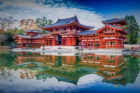 Uji, Kyoto, Japan - famous Byodo-in Buddhist temple, a UNESCO World Heritage Site. Phoenix Hall building   © Blue Sky Studio / Shutterstock