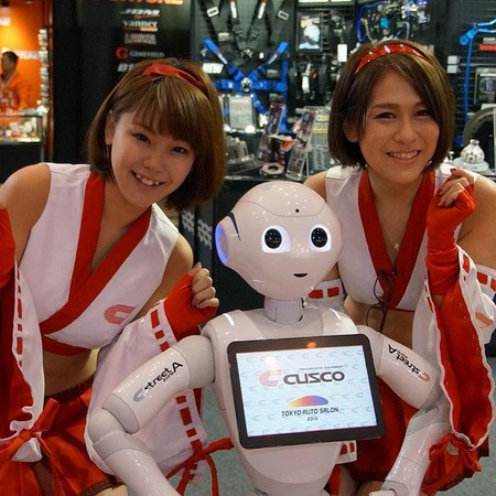 """Say hello to newest Cusco campaign team! Pepper the Customer Greeting Robot.