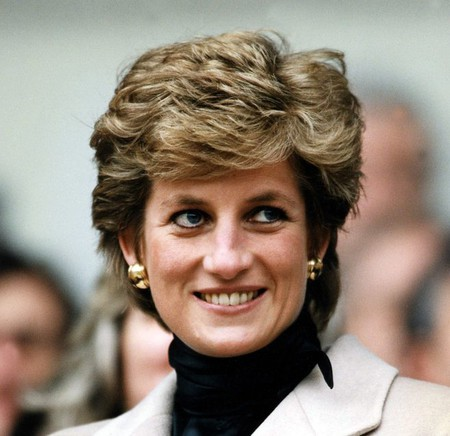 Princess Diana at the Parc des Princes│© Sipa Press / REX / Shutterstock