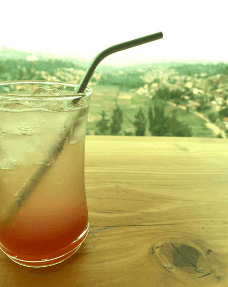 Drinks on the Inzora rooftop
