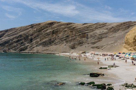 La Mina beach in Paracas