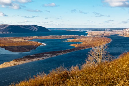 View of Volga River Bend