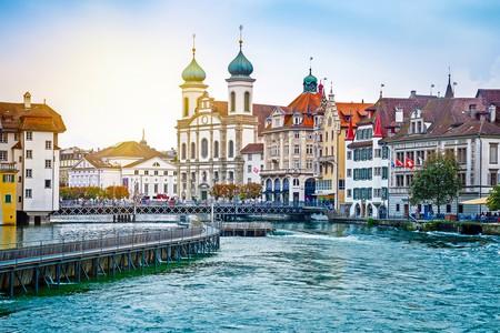 Cityscape of Lucerne in the evening | © Mariia Golovianko/Shutterstock