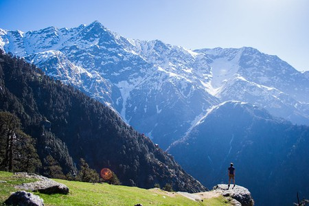 Triund Hill overlooking the majestic Dhauladhar Peaks