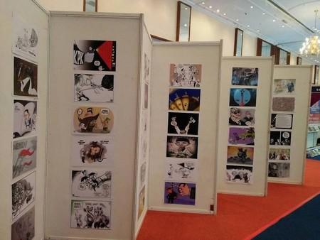 The anti-corruption cartoon exhibition   Courtesy of Pakerti