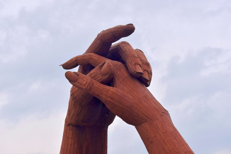 Holding Hand Sculpture, Gretna Green