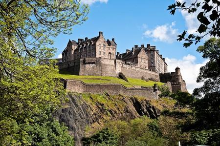 View Of Edinburgh Castle From Castle Terrace Restaurant