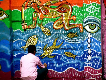 The Wall Project calls people every few months to express their ideas through mural art | © Satish Krishnamurthy / Flickr