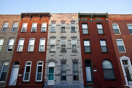 Federal-style rowhouses in Baltimore