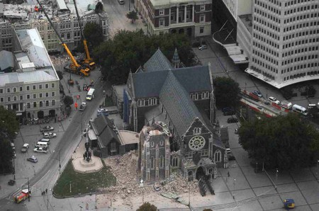 Christ Church Cathedral - 2011 earthquake damage | © New Zealand Defence Force/Flickr