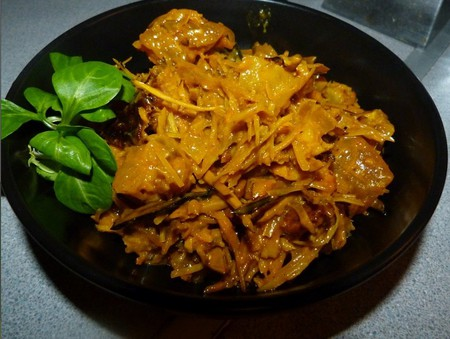 A plate of Abacha also known as African salad, a delicacy from the southeast |Courtesy of Buka Hut