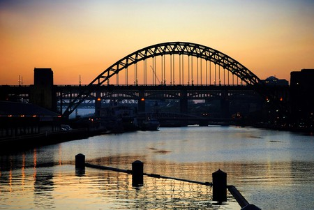 Sunset over the River Tyne, Newcastle