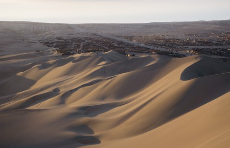 View of Huacachina's beautiful sand dunes